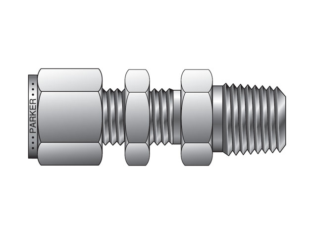 CPI Inch Tube NPT Male Bulkhead Connector - FH2BZ
